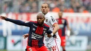 Pierre Lees Melou Wesley Sneijder Caen Nice Ligue 1 11192017