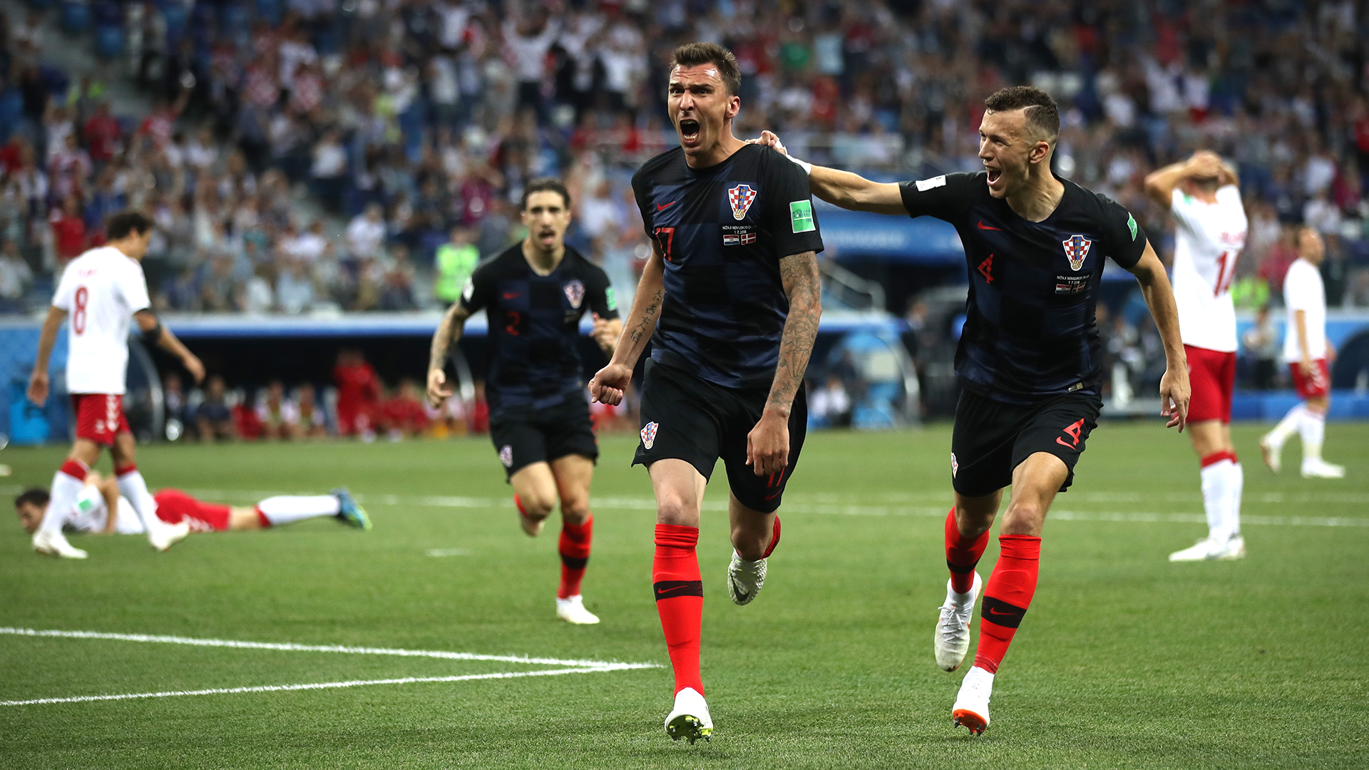 Croatia beat Russian Federation  on penalties to set up England semi-final