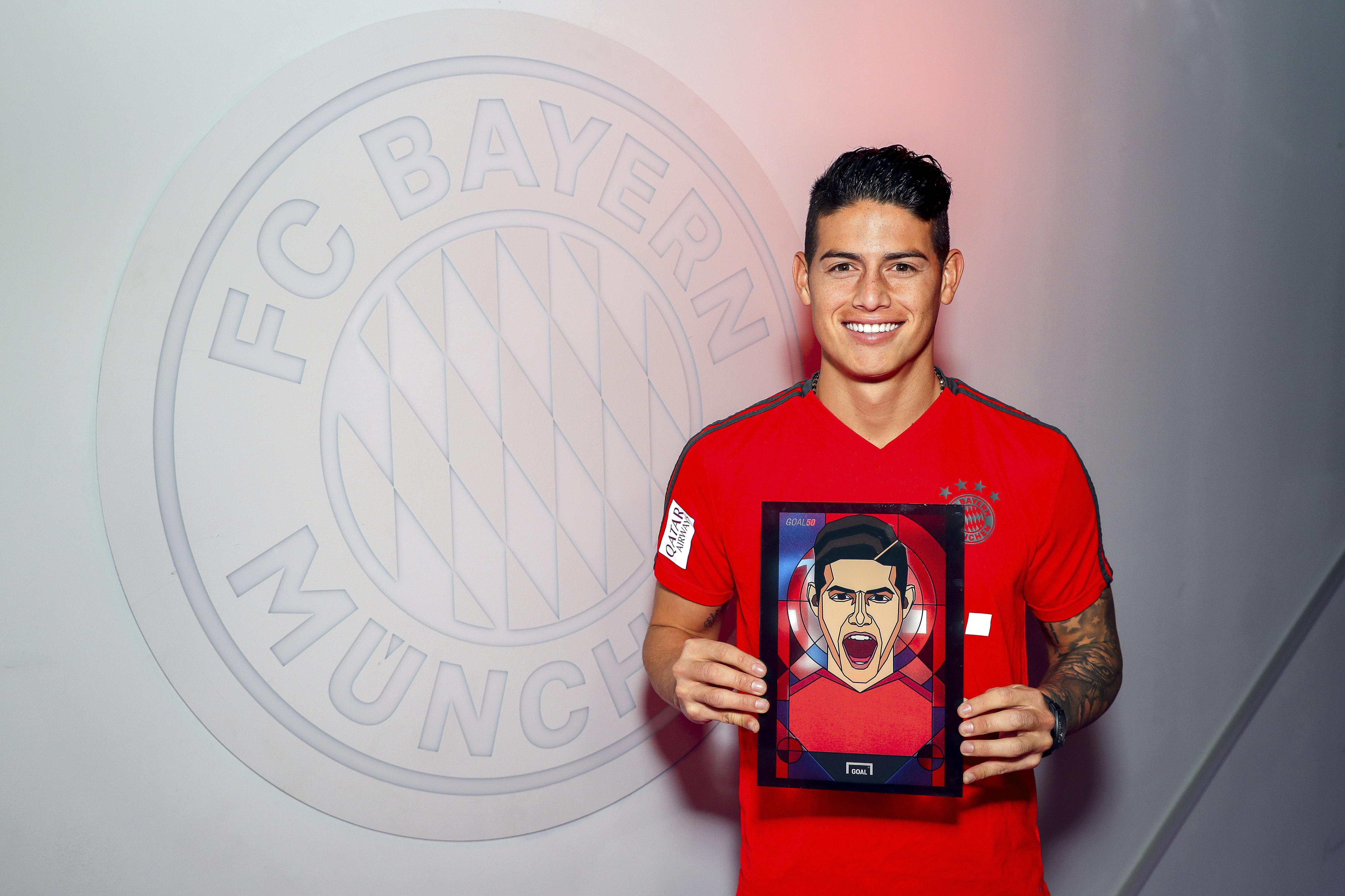 James Rodriguez FC Bayern München Goal 50 2018