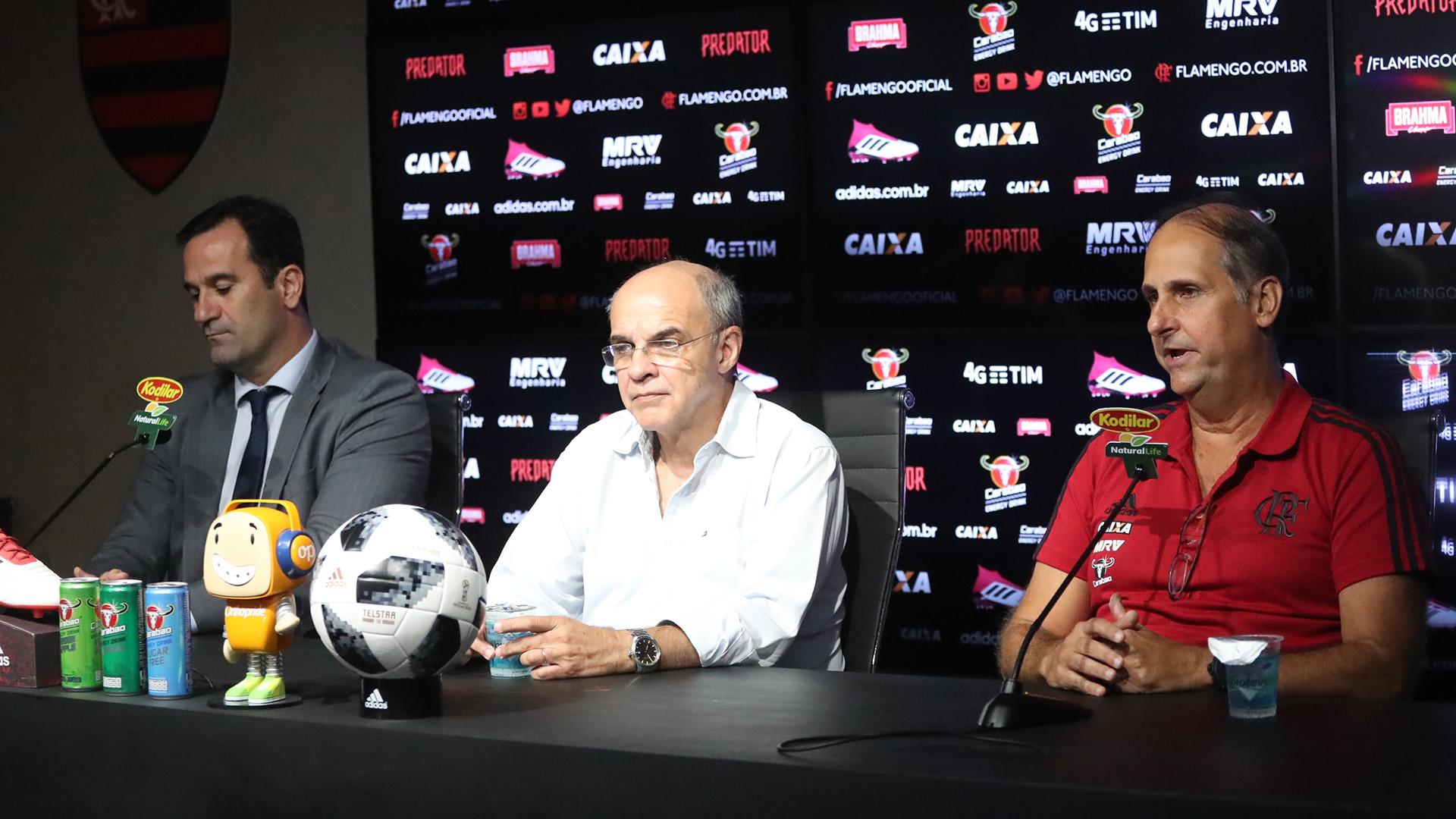 Carlos Noval Eduardo Bandeira Ricardo Lomba Flamengo 02042018