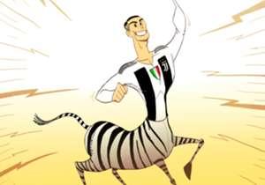 Cristiano Ronaldo postao zebra