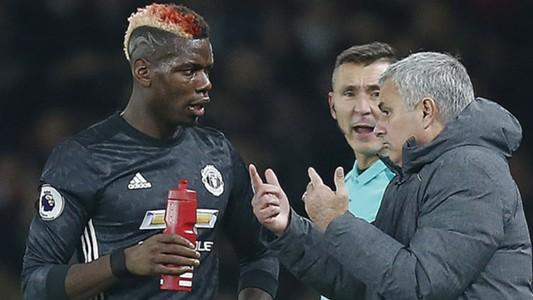 Paul Pogba Jose Mourinho 2017