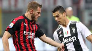 Ignazio Abate Milan Cristiano Ronaldo Juventus 2018-19