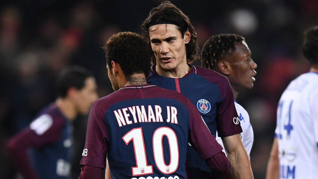 Video Edinson Cavani And Neymar Clash Again In Latest Psg Penalty Debacle Against Troyes Goal Com