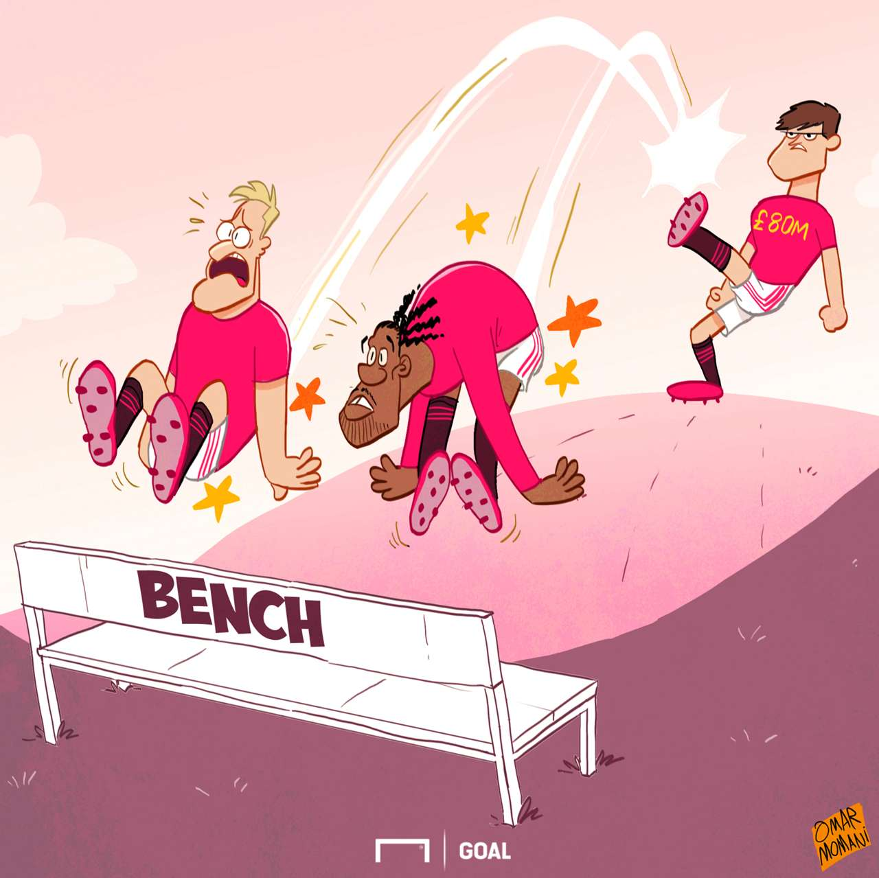 Goal's Cartoon Corner - the best football sketches from Omar