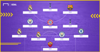 Best XI Champions League round 1 table round header