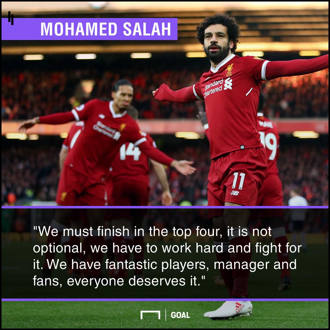 Mohamed Salah top four not optional
