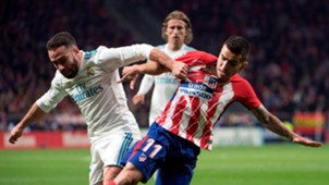 Dani Carvajal Angel Correa Atletico Real Madrid LaLiga 18112017