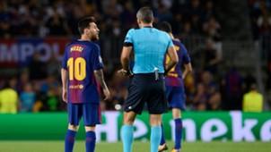 Lionel Messi Skomina Barcelona Juventus Champions League