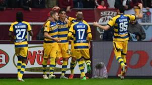 Parma celebrating Torino Serie A