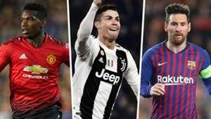 Paul Pogba Cristiano Ronaldo Lionel Messi