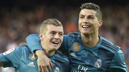 Toni Kroos Cristiano Ronaldo Real Madrid 2017-18