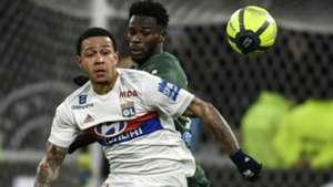 Memphis Depay Jonathan Bamba Lyon Saint-Etienne Ligue 1 25022018