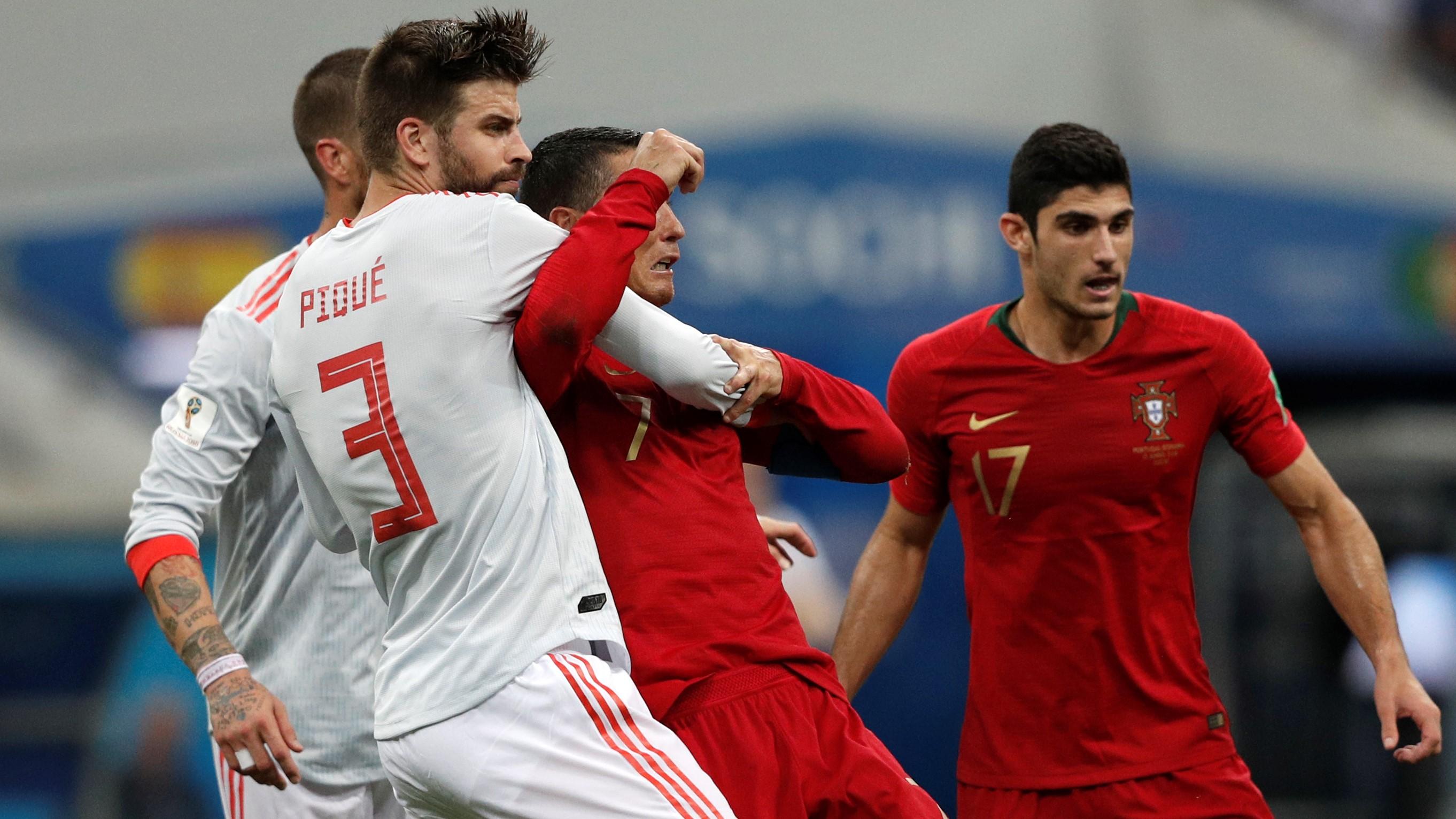 Gerard Pique Cristiano Ronaldo Portugal España Spain World Cup 15062018