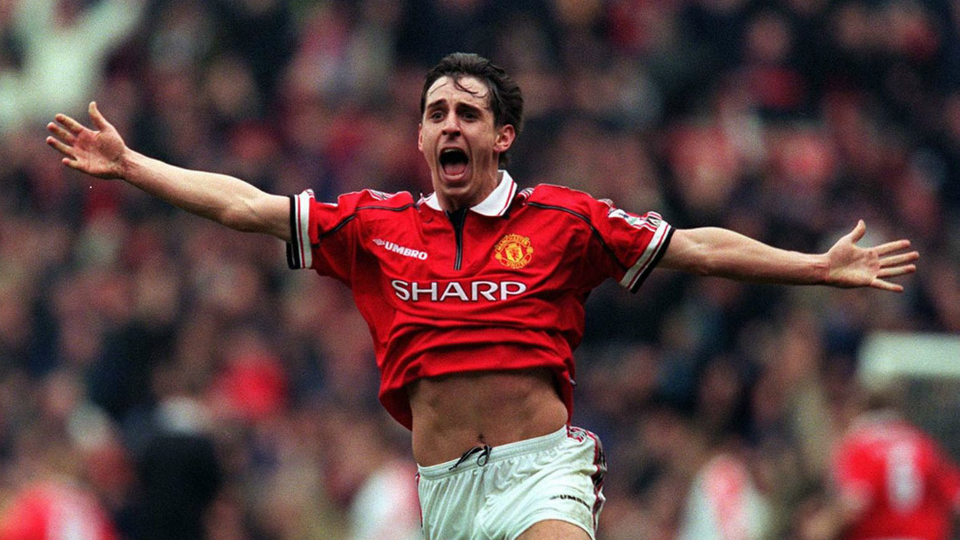 Gary Neville Manchester United Liverpool 1997