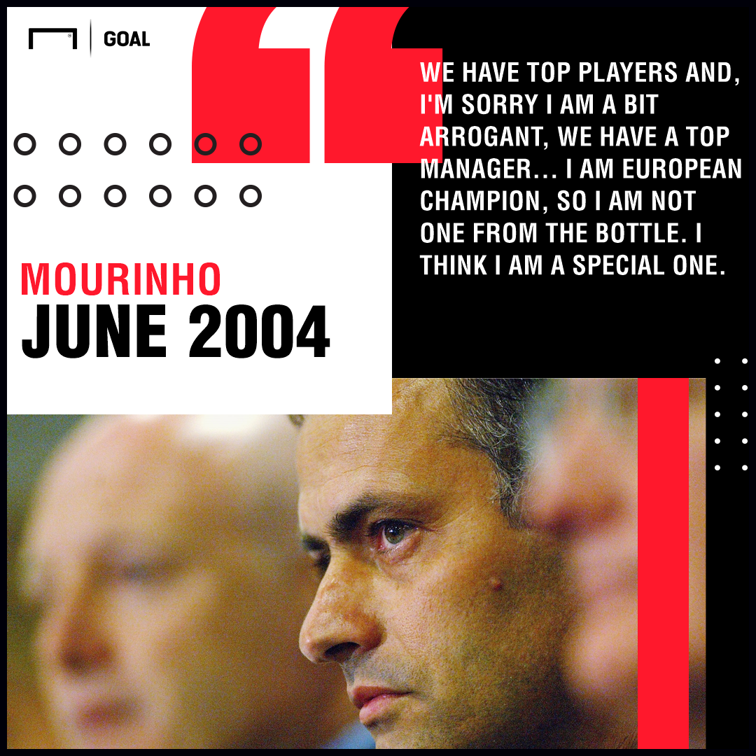Jose Mourinho Chelsea quote 2004 Special One