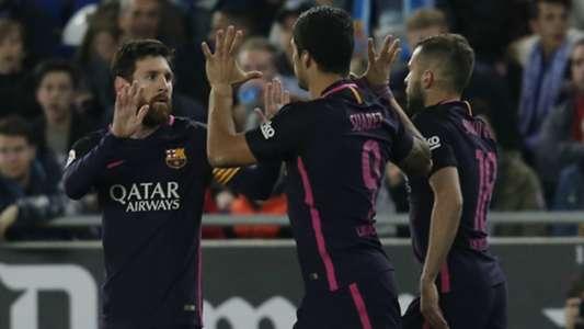 Luis Suárez Lionel Messi Espanyol Barcelona LaLiga 29042017