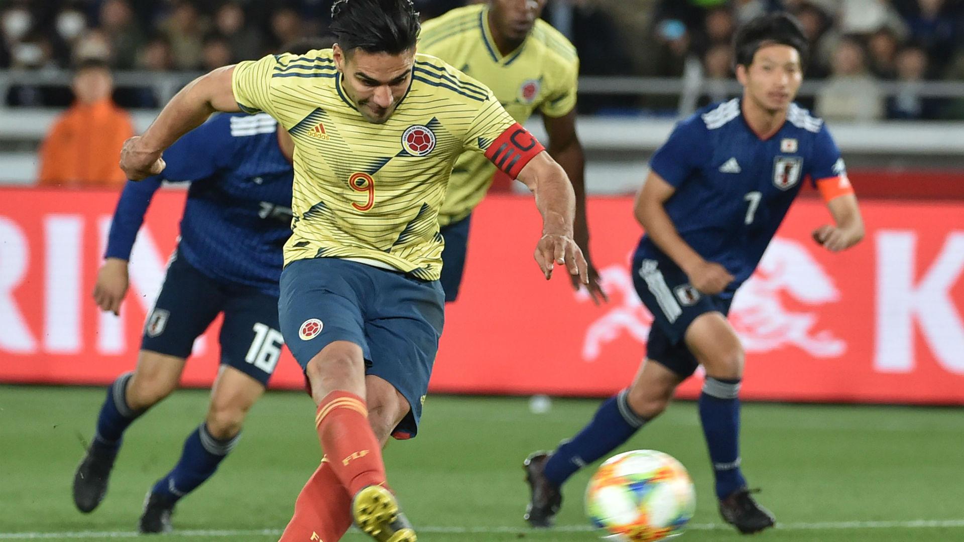 falcao Colombia - Japón amistoso 2019