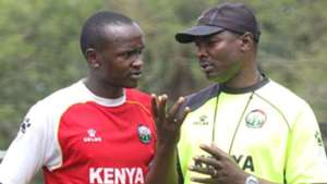 Anthony Kimani and James Nandwa of AFC Leopards.