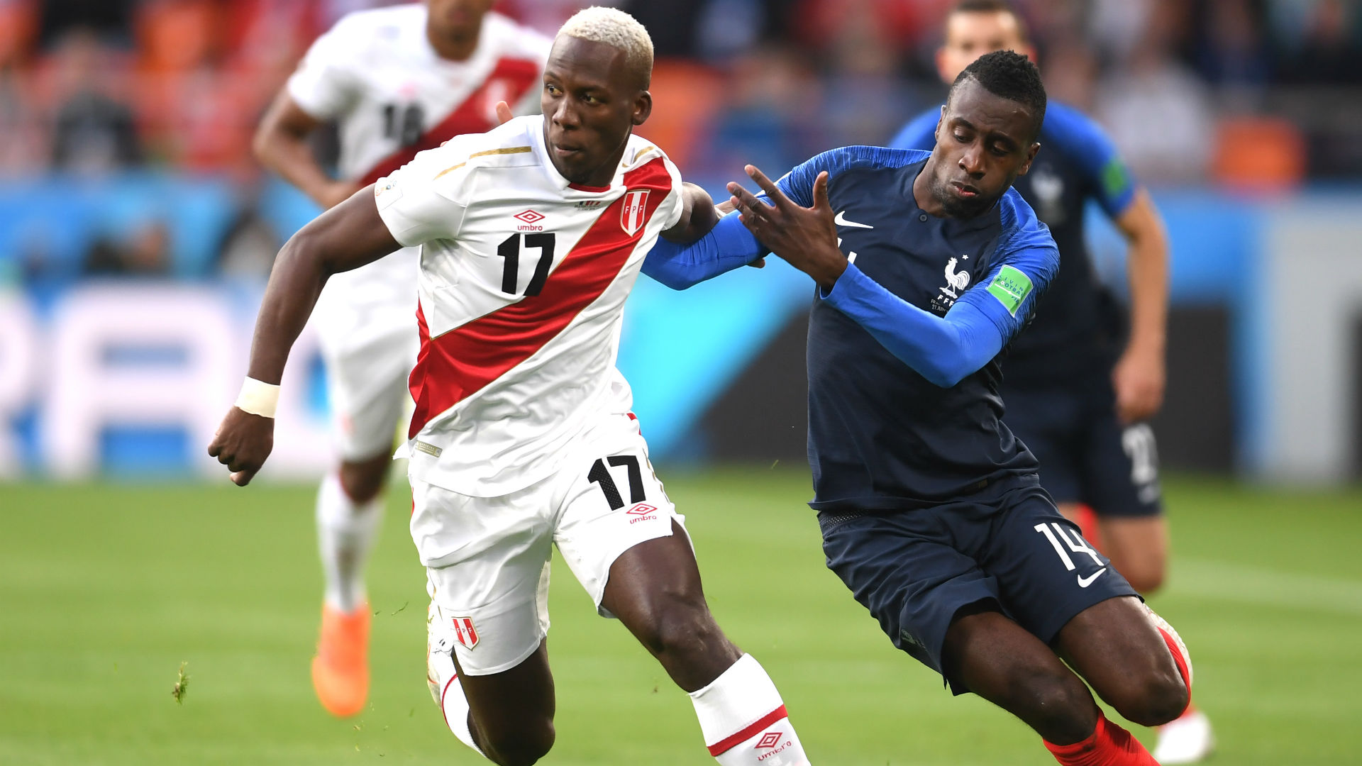 Blaise Matuidi Luis Advincula France Peru World Cup 2018 21062018