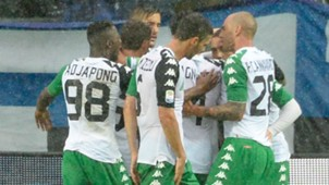 Atalanta Sassuolo celebrating