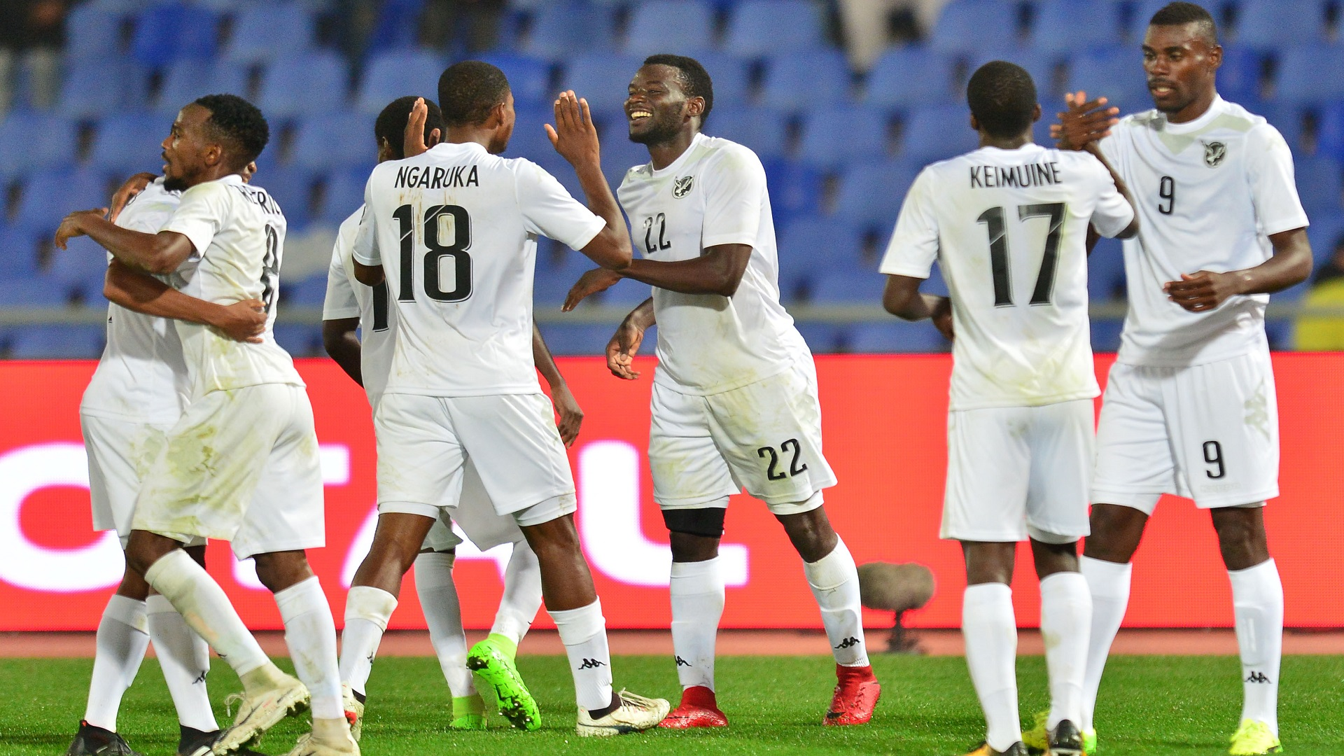 Namibia celebrate a goal during CHAN 2018