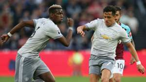 Paul Pogba Alexis Sanchez Manchester United 2017-18