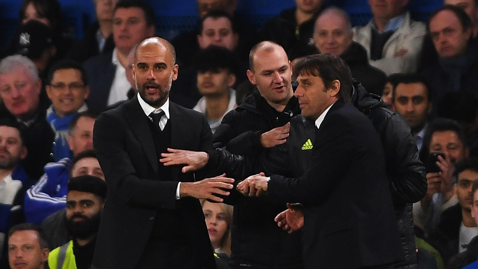 Pep Guardiola Antonio Conte Chelsea Manchester City