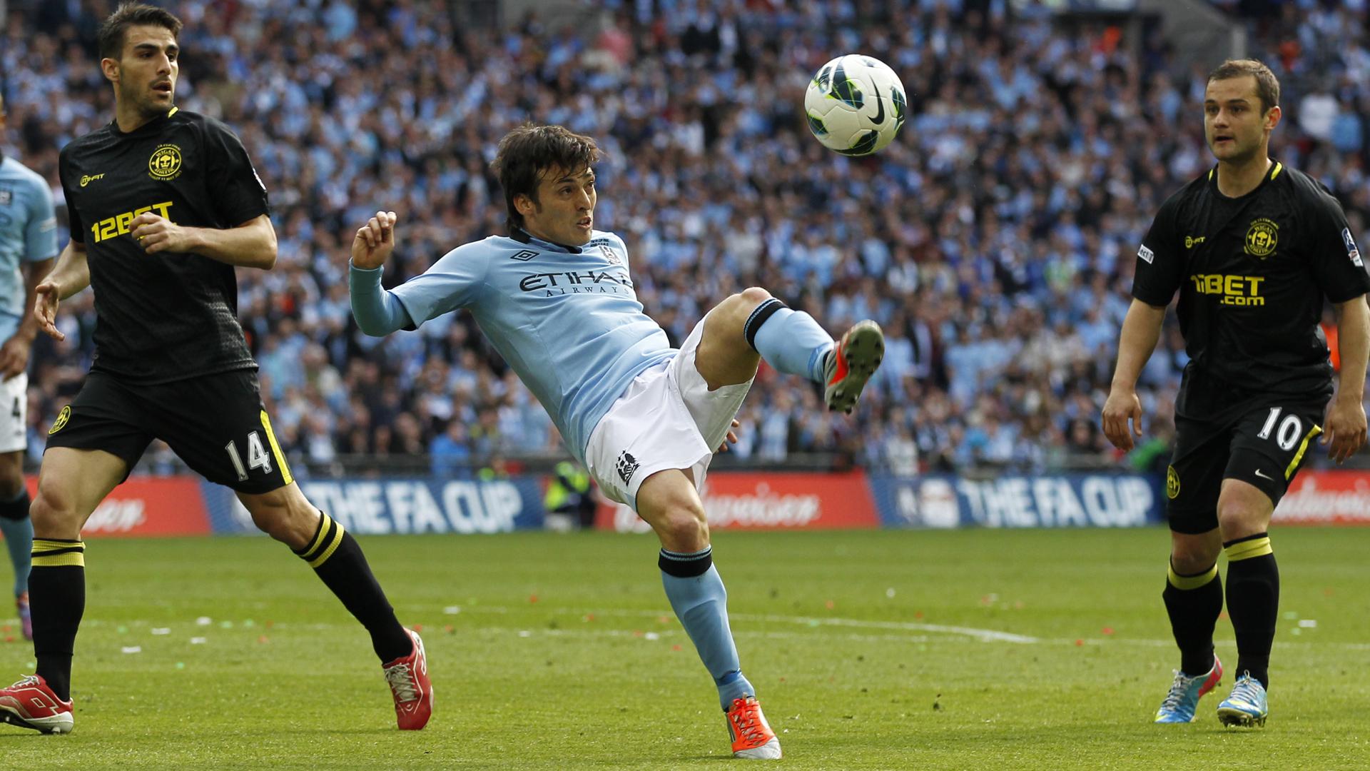 Manchester City Wigan FA Cup David Silva 11052013