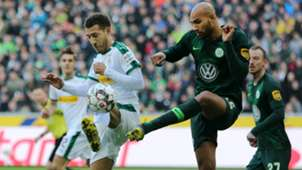 FABIAN JOHNSON BORUSSIA MÖNCHENGLADBACH JOHN ANTHONY BROOKS WOLFSBURG GERMAN BUNDESLIGA 23022019