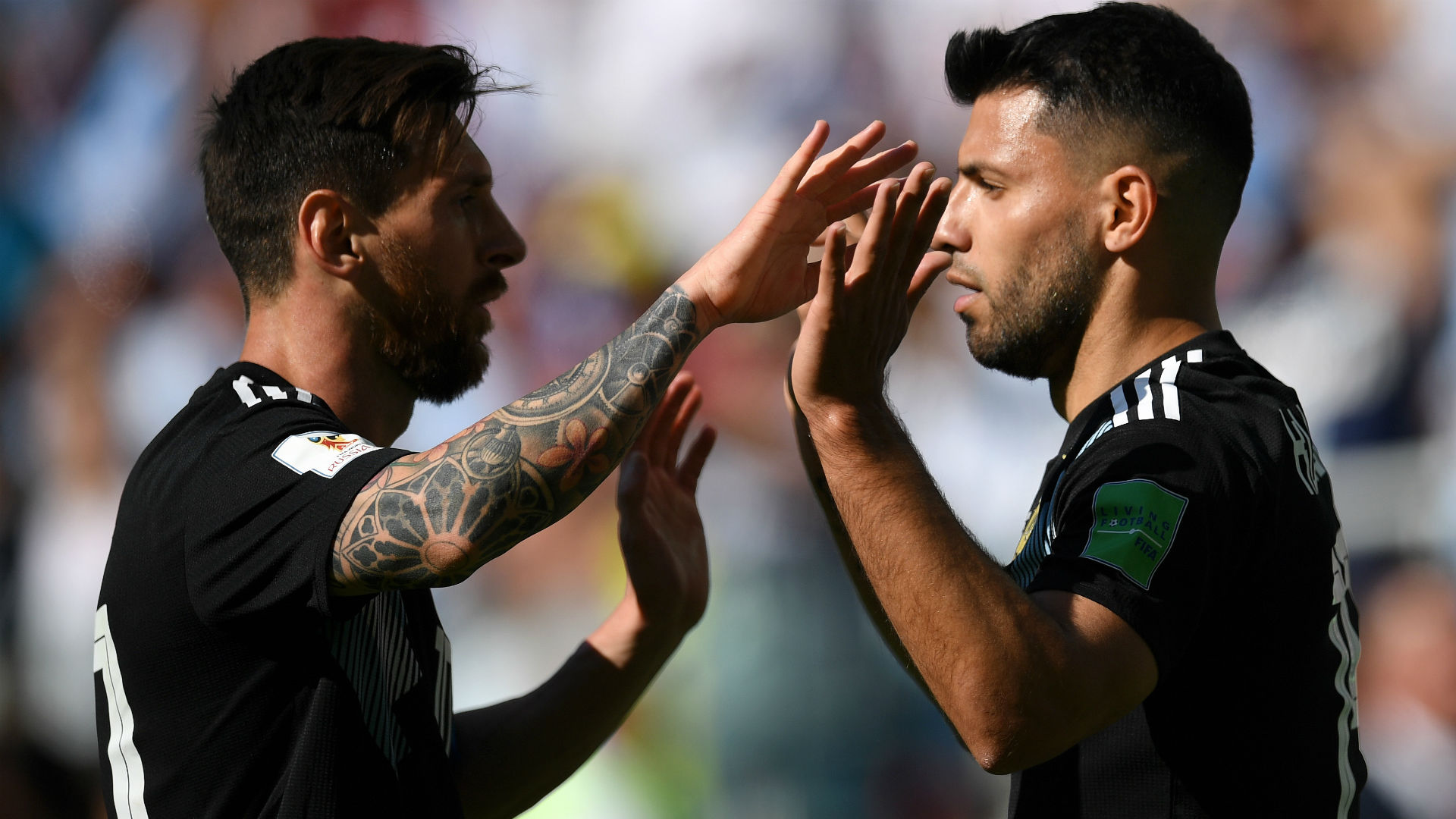 Lionel Messi Sergio Kun Aguero Argentina Islandia Iceland World Cup 16062018