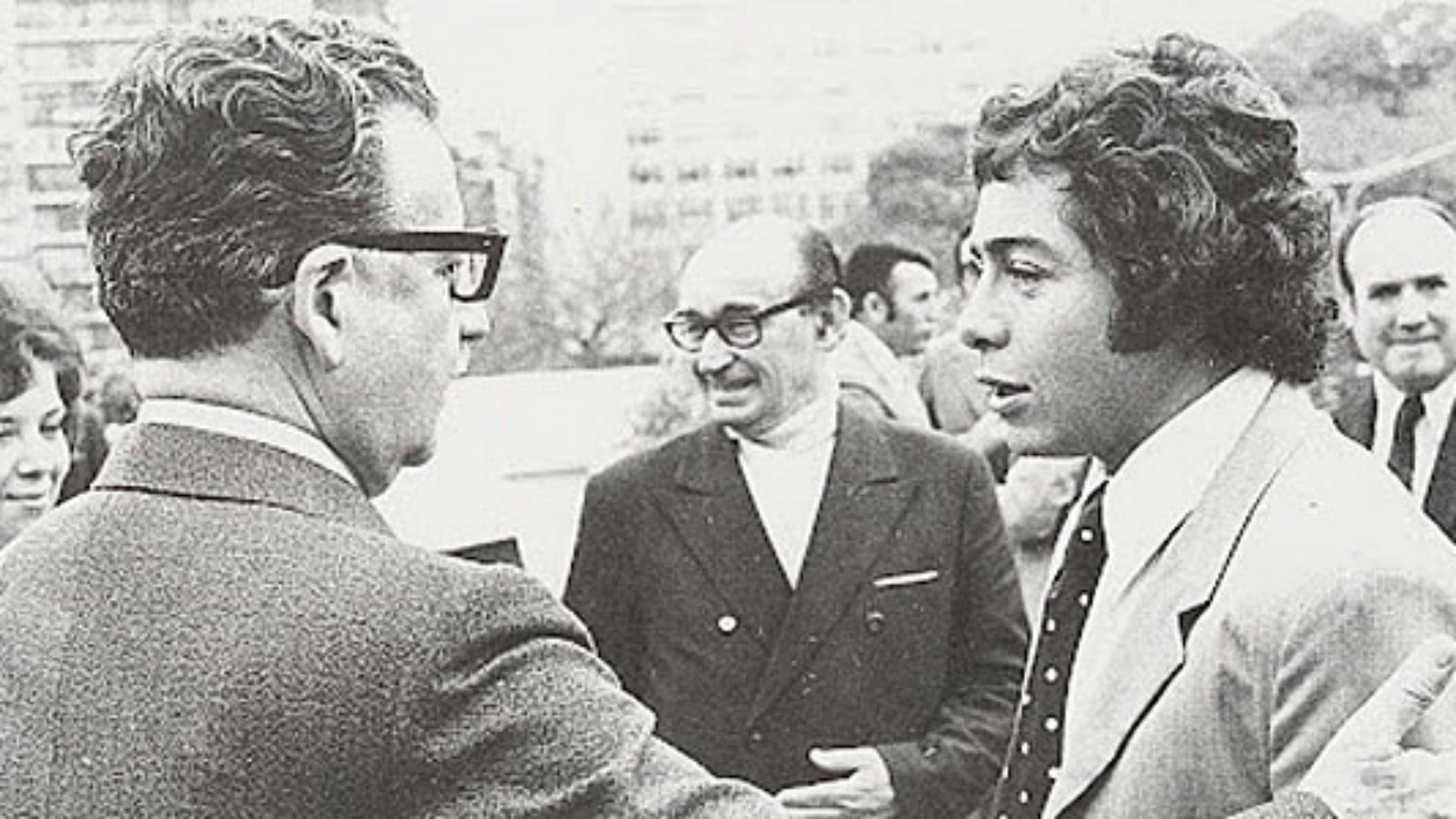 Salvador Allende y Carlos Caszely