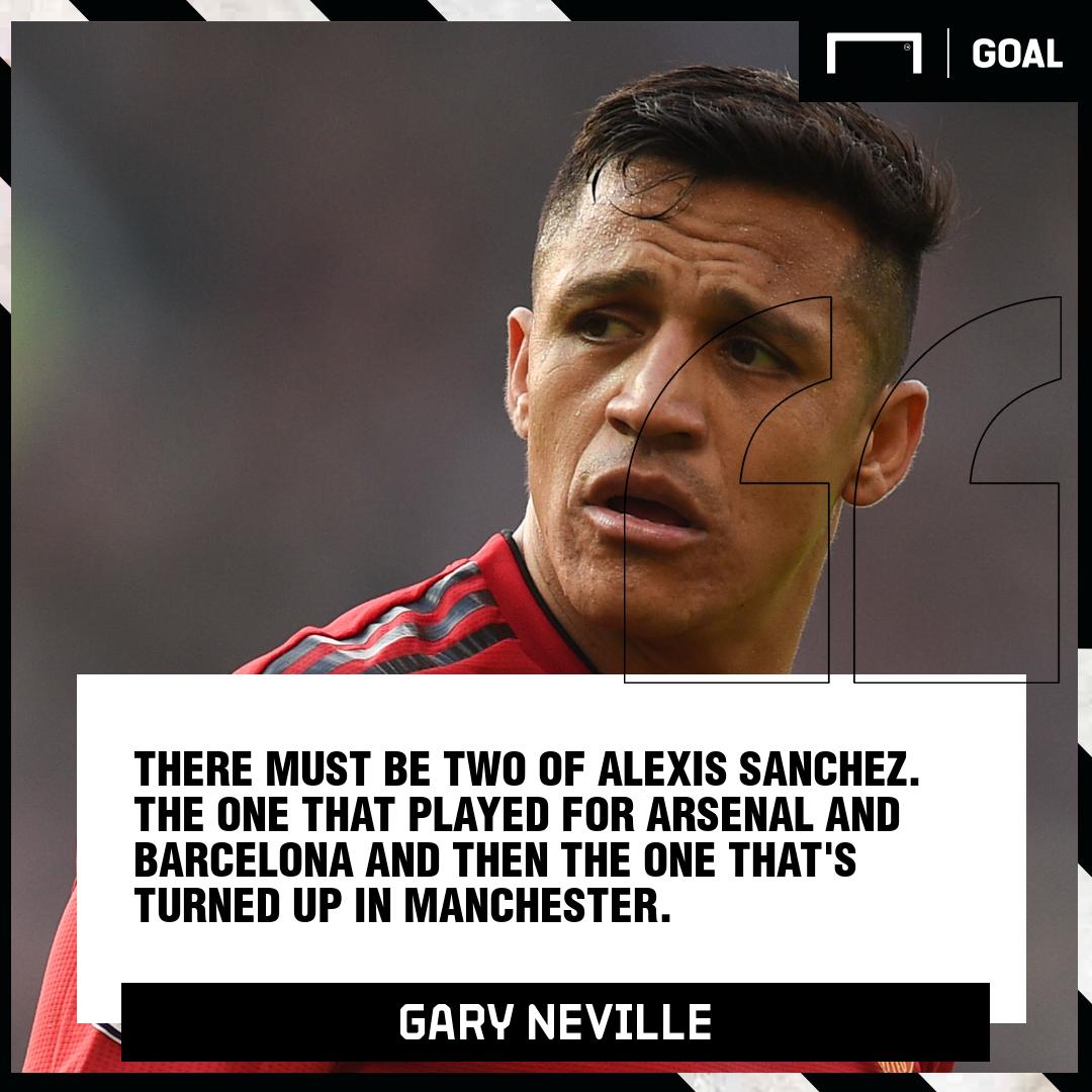Alexis Sanchez Gary Neville quote PS