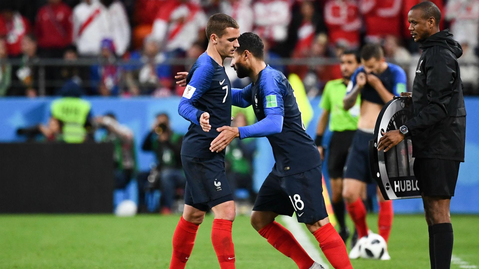 Griezmann Fekir France Peru World Cup 2018