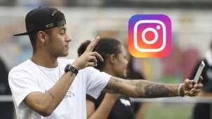 Neymar, Instagram logo