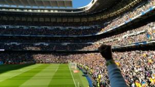 Tribun Santiago Bernabeu El Classico Real Madrid Barcelona