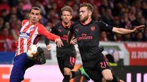 Antoine Griezmann Calum Chambers Atletico Arsenal UEL 03052018