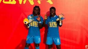 Addo assists and Chawinga scores a brace in Jiangsu Suning victory
