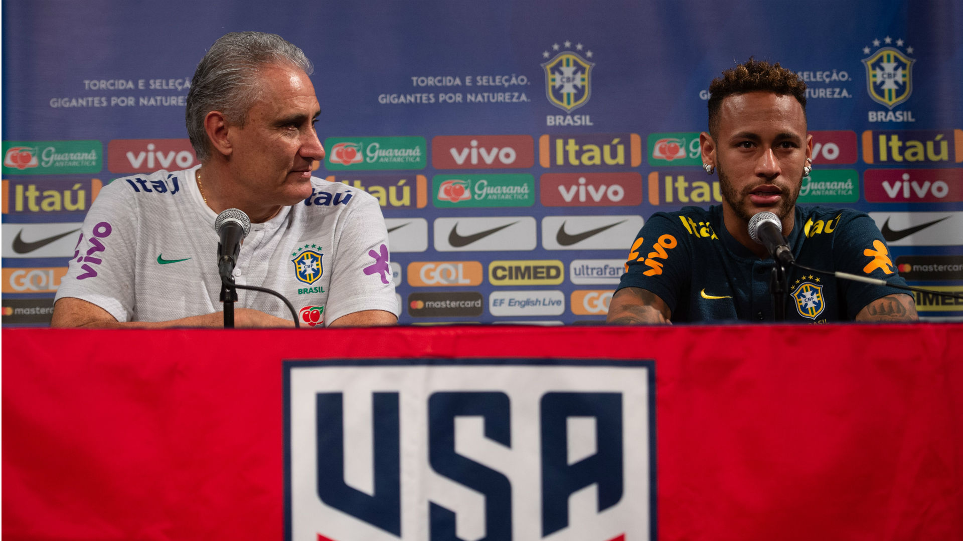 Tite Neymar Seleção Brasil 06 09 2018