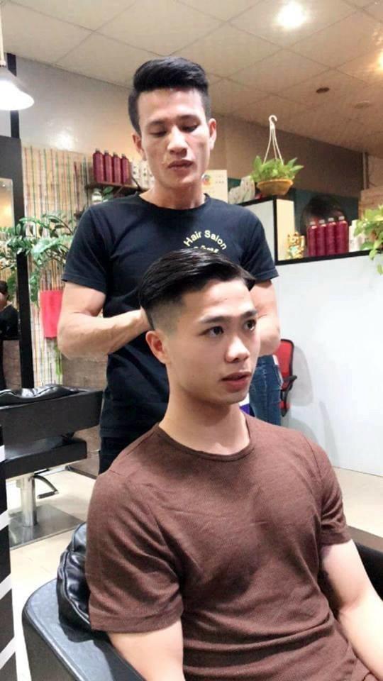 Công Phượng tóc Undercut vuốt ngược