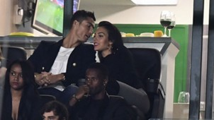 Cristiano Ronaldo Georgina Rodriguez attending Sporting CP match