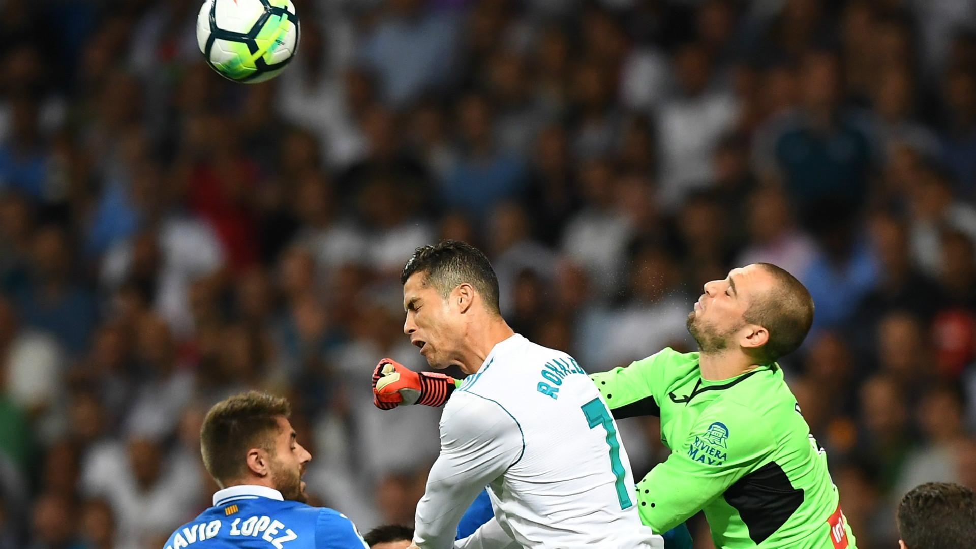 Cristiano Ronaldo Pau Lopez Real Madrid Espanyol LaLiga