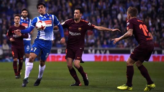 Gerard Moreno Sergio Busquets Espanyol Barcelona Copa del Rey 17012018