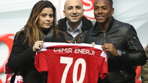 Robinho Sivasspor apresentação 23 01 18