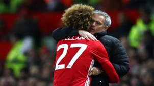 Marouane Fellaini Jose Mourinho Manchester United League Cup