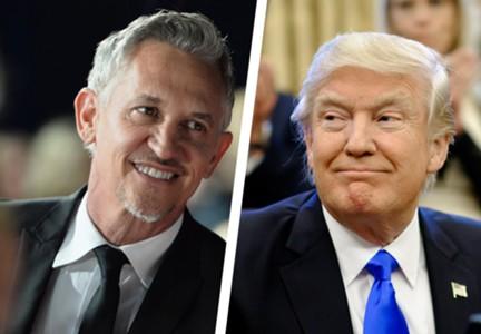 Gary Lineker Donald Trump split