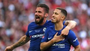 Eden Hazard Olivier Giroud FC Chelsea Manchester Untied 19052018