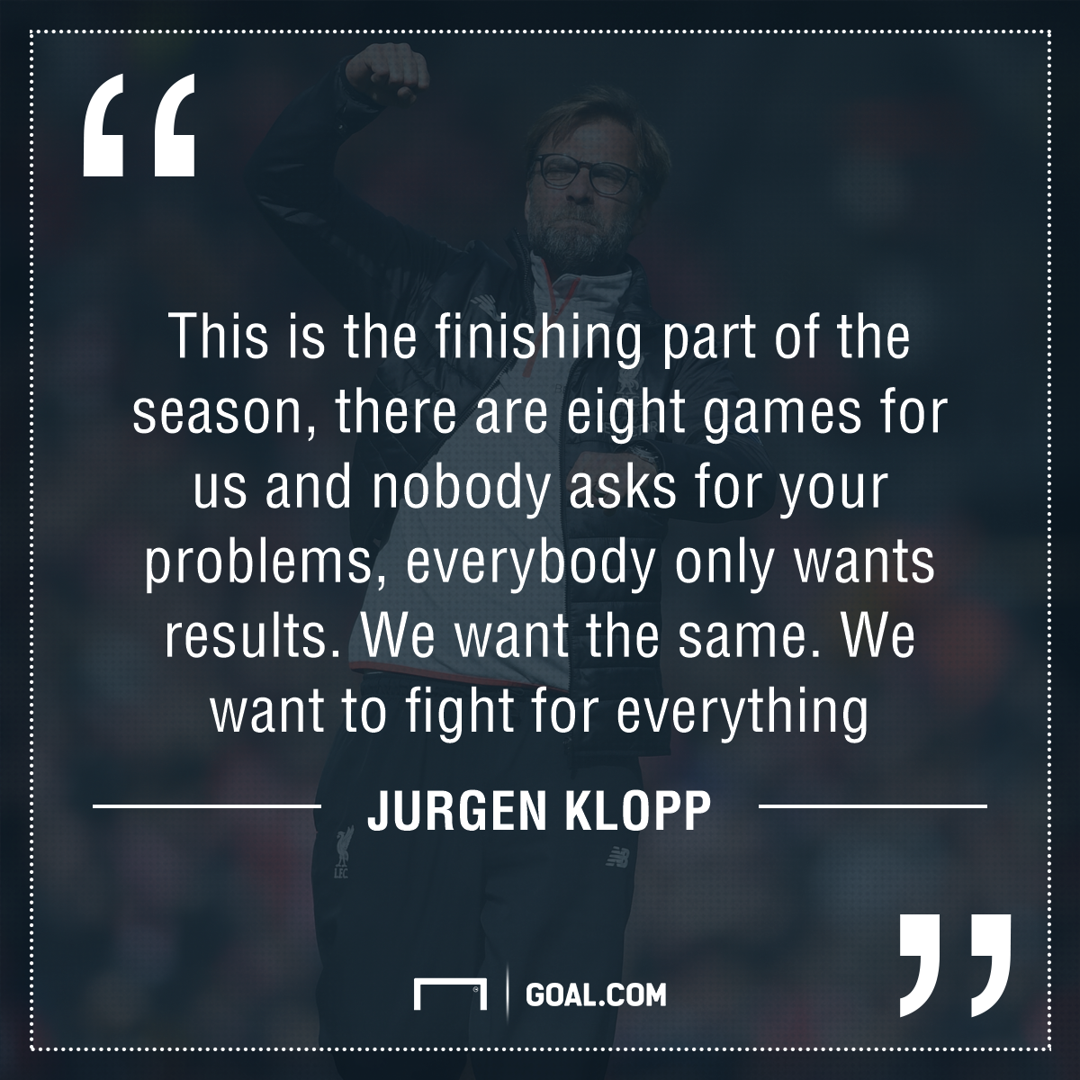 GFX Jurgen Klopp Liverpool quote