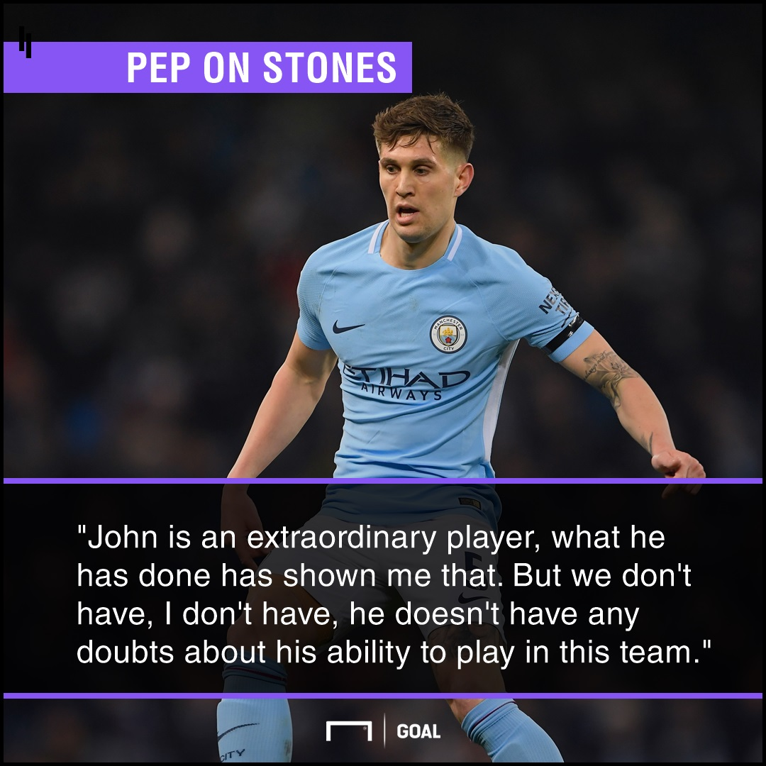 GFX Pep Guardiola on John Stones