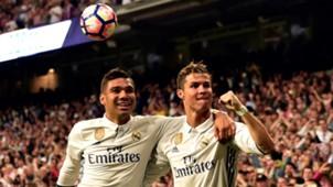 Casemiro Cristiano Ronaldo Real Madrid Sevilla LaLiga 14052017